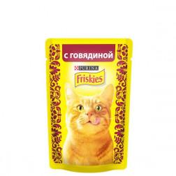 Корм для кошек Friskies с говядиной 85 гр.