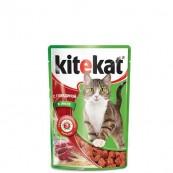Корм для кошек Kitekat с говядиной в соусе 85 гр.