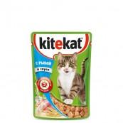 Корм для кошек Kitekat с рыбой в соусе 85 гр.
