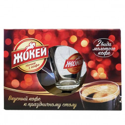 Подарочный набор 2*250гр. молотого кофе Жокей + кружка