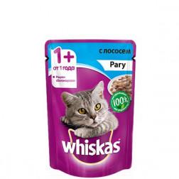 Корм для кошек Whiskas рагу с лососем 85 гр.