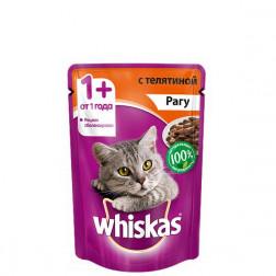 Корм для кошек Whiskas паштет с телятиной 85 гр.