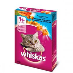 Сухой корм для кошек Whiskas С лососем и подушечками 350гр.