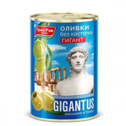 Оливки греческие Green Ray Гигант без косточки 420гр.