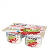 Йогурт Слобода с клубникой 2,9% ,  125гр.