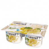 Йогурт Слобода с лимоном 7,8% , 125гр.