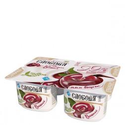 Йогурт Слобода с вишней 125гр.