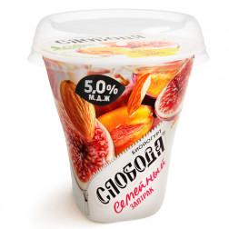 Йогурт Слобода «Семейный завтрак» инжир, слива, миндаль 250гр.