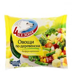 Смесь овощная «4 сезона» Овощи по-деревенски 400гр.