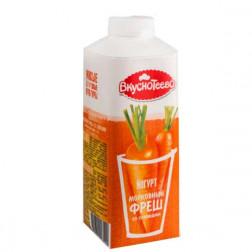 Йогурт Вкуснотеево питьевой Морковный фреш со сливками 1,5% 750гр.