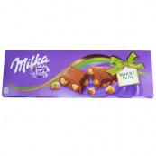 Шоколад Milka молочный с цельным фундуком 250 гр.