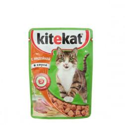 Корм для кошек Kitekat с индейкой в соусе 85 гр.