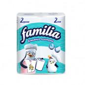 Полотенца бумажные «Familia» двухслойные (2 рулона)