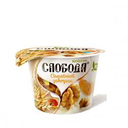 Йогурт Слобода «Семейный завтрак» гранола, грецкий орех и изюм  210гр.