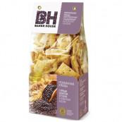 ИТАЛЬЯНСКИЕ ХЛЕБЦЫ «BAKER HOUSE» с черным кунжутом, отрубями и оливковым маслом 250 гр.