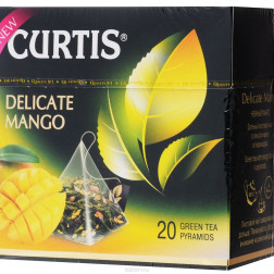 Чай Curtis Delicate mango зелёный листовой чай  20пак