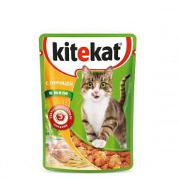 Корм для кошек Kitekat с курицей в желе 85 гр.