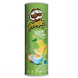 Картофельные чипсы Pringles Sour Cream & Onion 165 гр.
