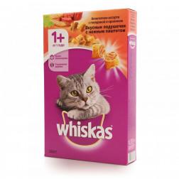 Сухой корм для кошек Whiskas ассорти с говядиной кроликом и подушечками 350гр.