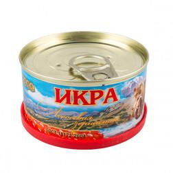 Икра красная ЛОСОСЕВАЯ зернистая(горбуша) «Медведь»,130 гр. Авистрон