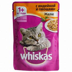 Корм для кошек Whiskas Индейка с овощи 85 гр.