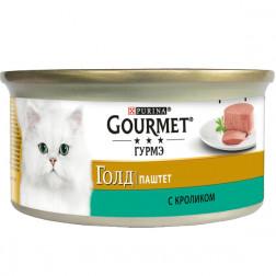 Корм для кошек PURINA Gourmet Голд паштет с кроликом 85 гр.
