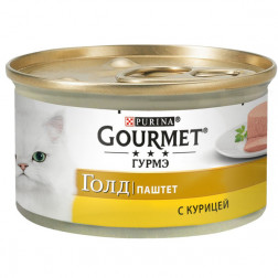Корм для кошек PURINA Gourmet Голд паштет с курицей 85 гр.