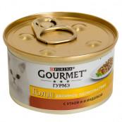 Корм для кошек PURINA Gourmet Голд двойное удовольствие с уткой и индейкой, 85 гр.