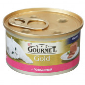 Корм для кошек PURINA Gourmet Голд паштет с говядиной 85 гр.
