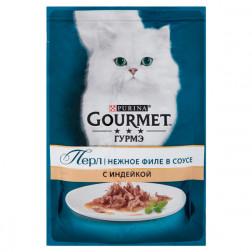 Корм для кошек PURINA Gourmet Индейка 85 гр.