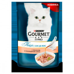 Корм для кошек PURINA Gourmet Лосось 85 гр.