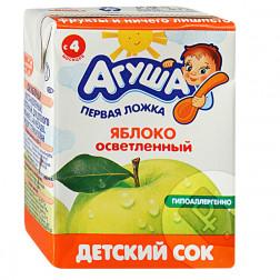 Сок детский Агуша яблоко, 0,2л.