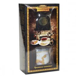 Китайский чай КОНФУЦИЙ «Изумрудные шарики» с пиалой, 90 гр.