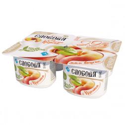 Йогурт Слобода  персик 2,9% ,  125гр.