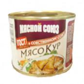 Мясо цыпленка в собственном соку Мясной Союз, 525гр.