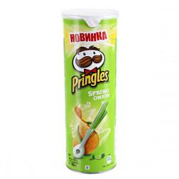 Картофельные чипсы Pringles Spring Onion, 165 гр.