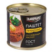 Паштет печеночный Главпродукт со сливочным маслом 250 гр.