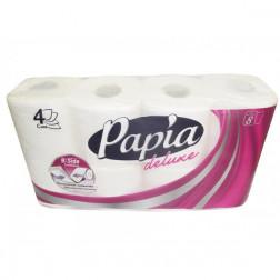 Бумага туалетная «Papia Делюкс» 4 слоя 8 рулонов
