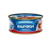 Бычки в томатном соусе Аквамарин, 240гр.