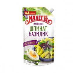 Майонез Махеевъ шпинат/базилик 50,5%, 380гр.