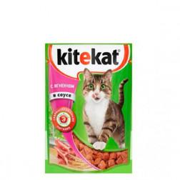 Корм для кошек Kitekat с ягненком в соусе, 85 гр.