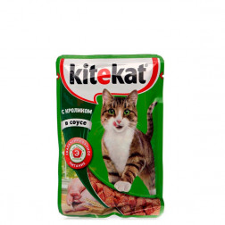 Корм для кошек Kitekat с кролик в соусе 85 гр.