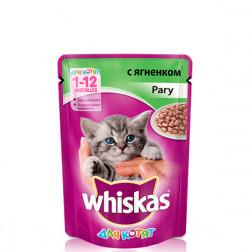 Корм для кошек Whiskas рагу ягненок  (возраст 7+ )85 гр.
