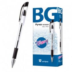Ручка гелевая BG Wavy черная