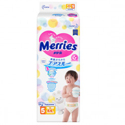 Подгузники Merries XL 5 (12-20кг) /44 шт