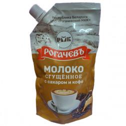 Молоко Рогачев сгущенное цельное с сахаром и кофе, 280гр.