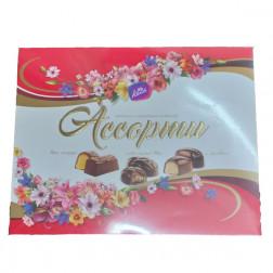 Конфеты Ассорти в молочном шоколаде, 168 гр
