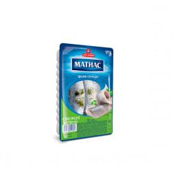 Филе сельди Матиас (свежая зелень) 250 г.