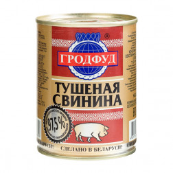 Свинина тушеная Гродфуд, 338гр