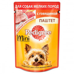 Корм для собак паштет Pedigree mini с говядиной, 80 гр.